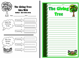 the giving tree creative writing worksheets and leaf templates set