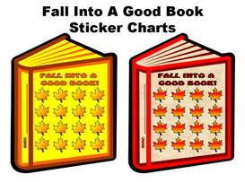 Fall Into A Good Book Sticker Chart Set | Other Files | Documents and Forms