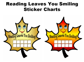 Reading Leaves You Smiling Sticker Chart Set | Other Files | Documents and Forms
