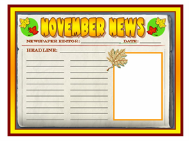 november news newspaper set