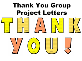 T-H-A-N-K Y-O-U Letters Group Project Set | Other Files | Documents and Forms