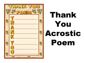 Thank You Acrostic Poetry Set | Other Files | Documents and Forms
