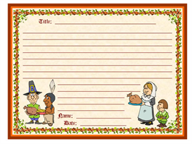 November Pilgrims Creative Writing Stationery Set | Other Files | Documents and Forms
