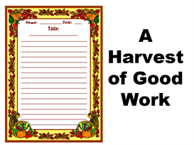 A Harvest of Great Work Stationery Set | Other Files | Documents and Forms