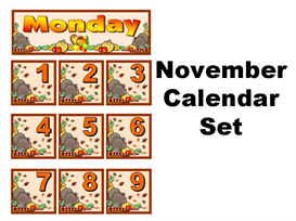 November Calendar Set | Other Files | Documents and Forms