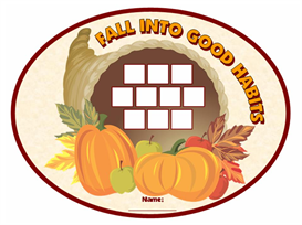 Fall Into Good Habits Sticker Chart Set | Other Files | Documents and Forms