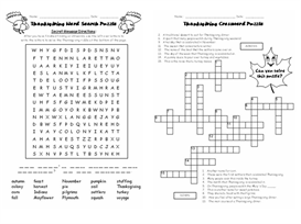 Thanksgiving 5 Puzzle Set | Other Files | Documents and Forms