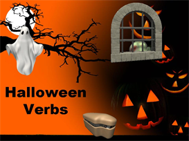 Halloween Present and Past Tense Verbs Powerpoint | Other Files | Documents and Forms