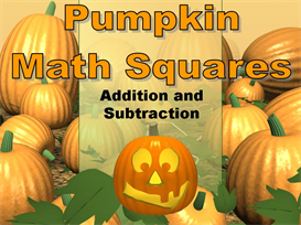 Halloween Pumpkin Math Squares Powerpoint | Other Files | Documents and Forms