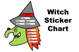 Witch Books Have You Read Sticker Chart Set | Other Files | Documents and Forms