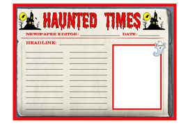Haunted Times Newspaper Writing Set | Other Files | Documents and Forms