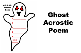 Ghost Acrostic Poetry Set | Other Files | Documents and Forms