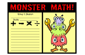 Monster Math Where The Wild Things Are | Other Files | Documents and Forms
