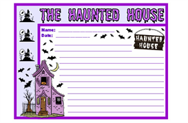 Haunted House Stationery Set | Other Files | Documents and Forms