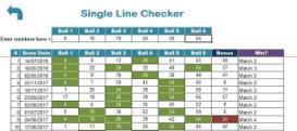 texas lotto results checker premium excel xls spreadsheet