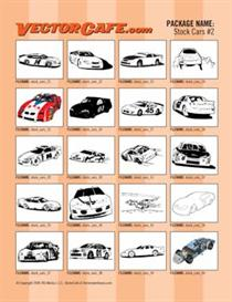 stock car vector clip art #2