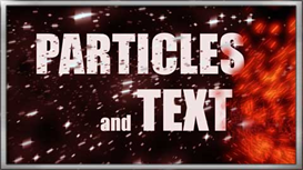 after effects projects - particles and text - vol1