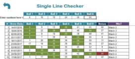 US Win For Life Lotto Checker Premium Excel xls Spreadsheet | Documents and Forms | Spreadsheets