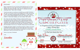 Personalized Santa Letter and Nice List Certificate - Snowman Design | Other Files | Patterns and Templates