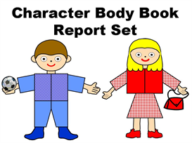 character body book report project