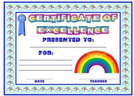 Certificate of Excellence Rainbow Award | Other Files | Documents and Forms