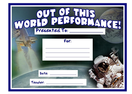 Out Of This World Performance Award | Other Files | Documents and Forms