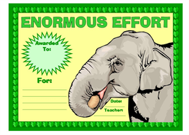 Enormous Effort Award | Other Files | Documents and Forms