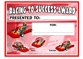 Racing To Success Award | Other Files | Documents and Forms
