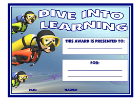 Dive Into Learning Award | Other Files | Documents and Forms