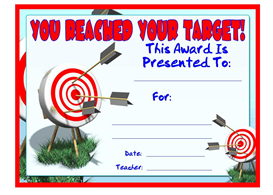 You Reached Your Target Award | Other Files | Documents and Forms