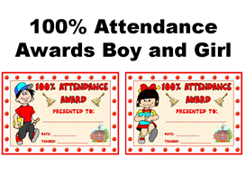 100 Percent Attendance Boy and Girl Award | Other Files | Documents and Forms