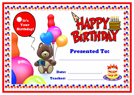 Happy Birthday Award Certificate | Other Files | Documents and Forms