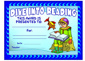 dive into reading award