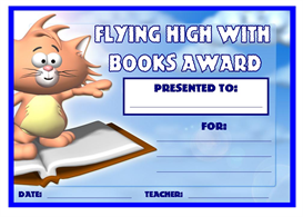 Flying High With Books Award | Other Files | Documents and Forms