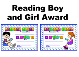 Reading Boy and Girl Award | Other Files | Documents and Forms