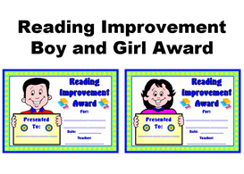 Reading Improvement Boy and Girl Award | Other Files | Documents and Forms