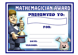 Mathemagician Award | Other Files | Documents and Forms