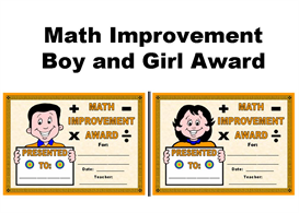 Math Improvement Boy and Girl Award | Other Files | Documents and Forms