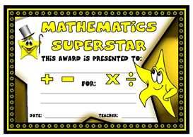 Mathematics Superstar Award | Other Files | Documents and Forms