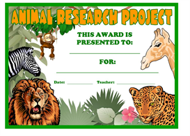 Animal Research Project Award | Other Files | Documents and Forms