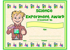 Science Experiment Award | Other Files | Documents and Forms