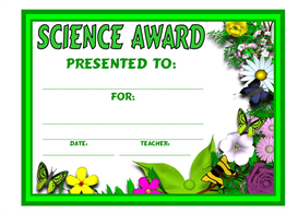 Science Plant Award | Other Files | Documents and Forms