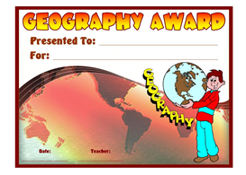 Geography Student Award | Other Files | Documents and Forms