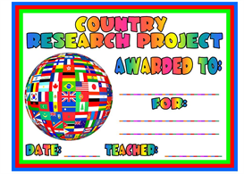 country research project award