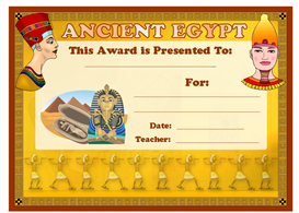 Ancient Egypt Award | Other Files | Documents and Forms