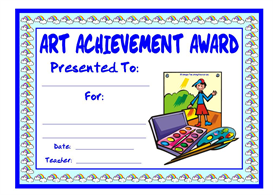 Art Achievement Award | Other Files | Documents and Forms