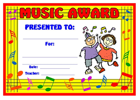 Music Children Award | Other Files | Documents and Forms