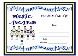 Choir Performance Award | Other Files | Documents and Forms