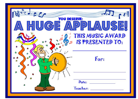Music Huge Applause Award | Other Files | Documents and Forms