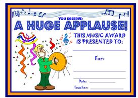 music huge applause award